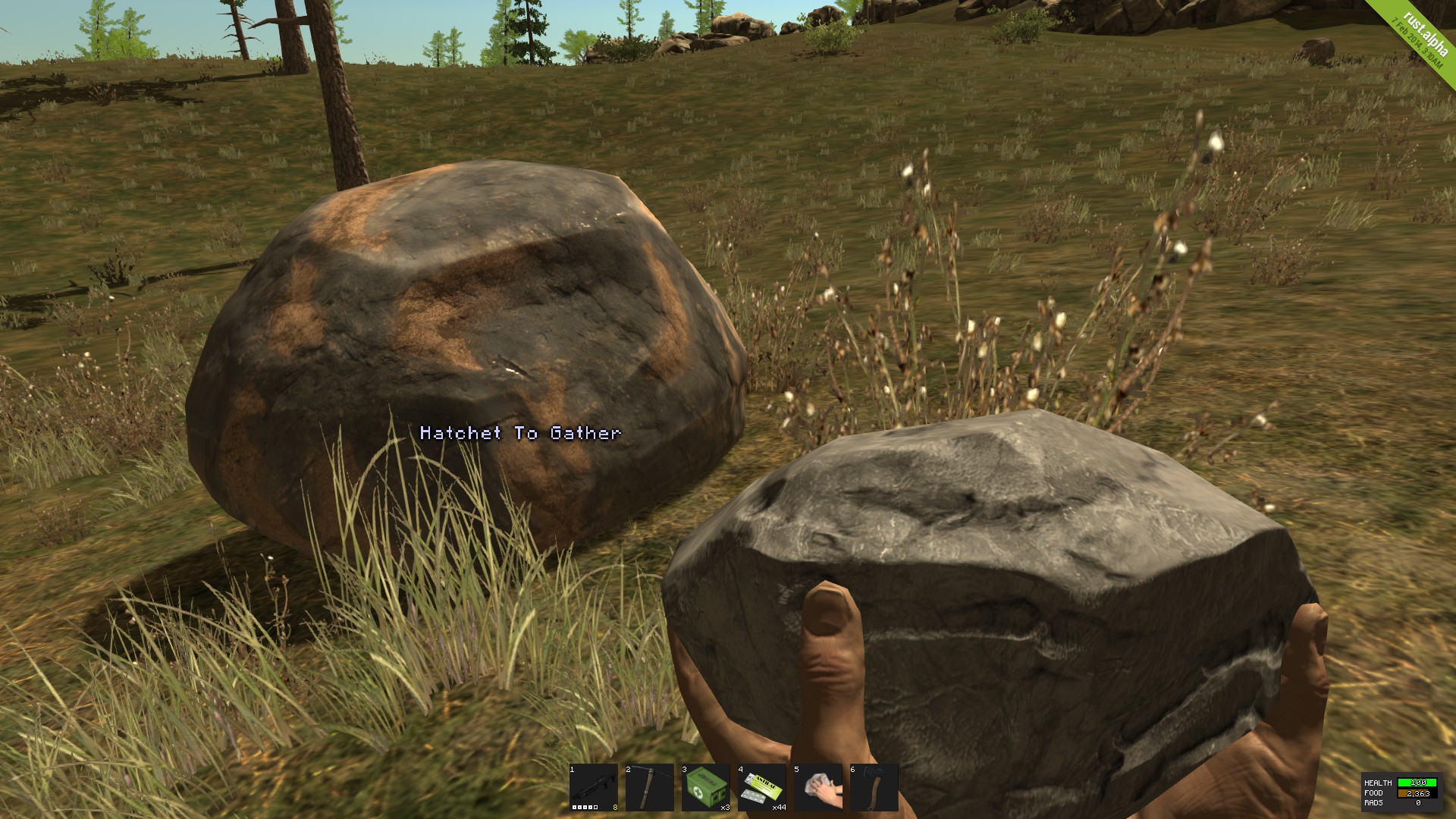 Как сделать каменный топор в раст