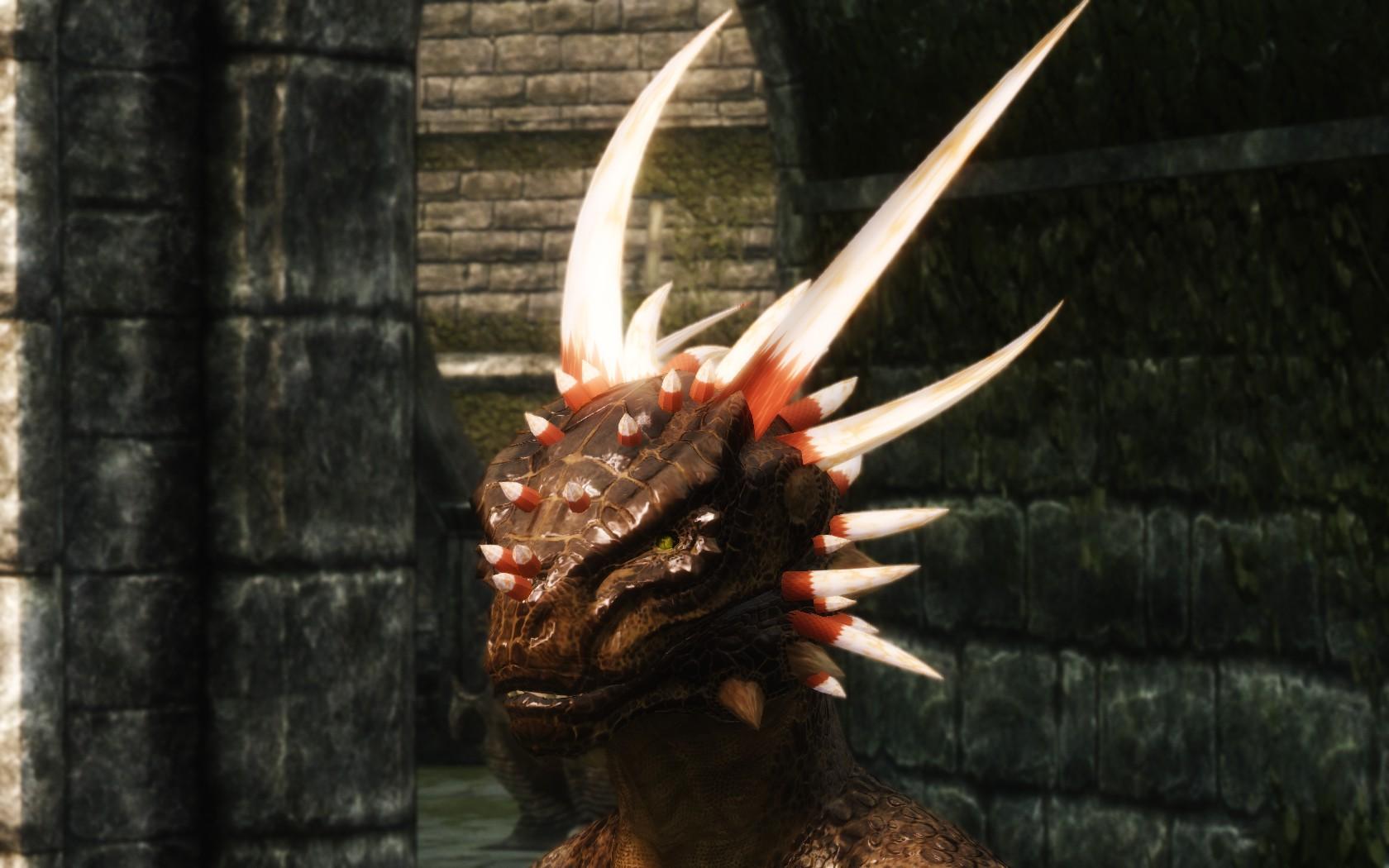 Skyrim причёски для аргониан