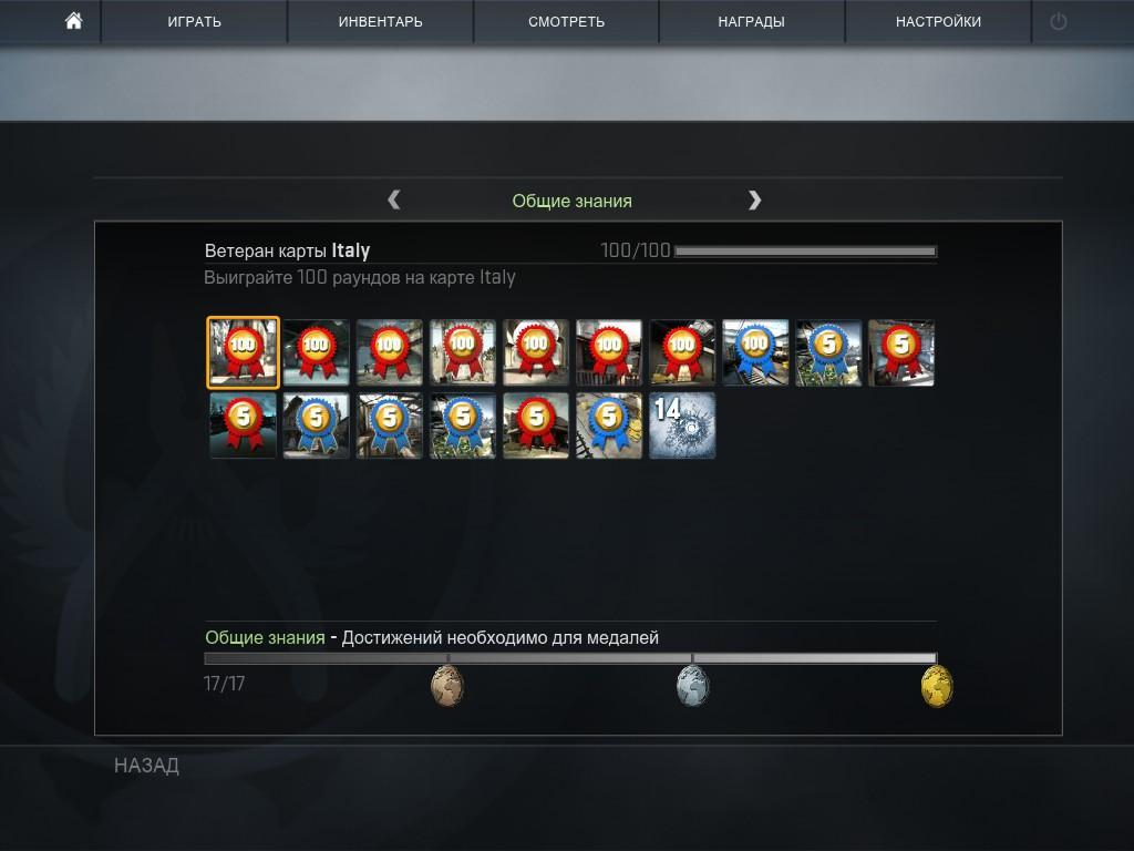 Получение всех достижений CS GO