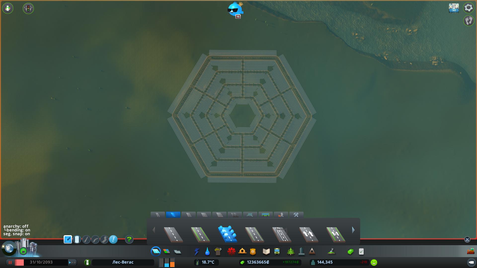 Строим шестиугольный город в Cities: Skylines