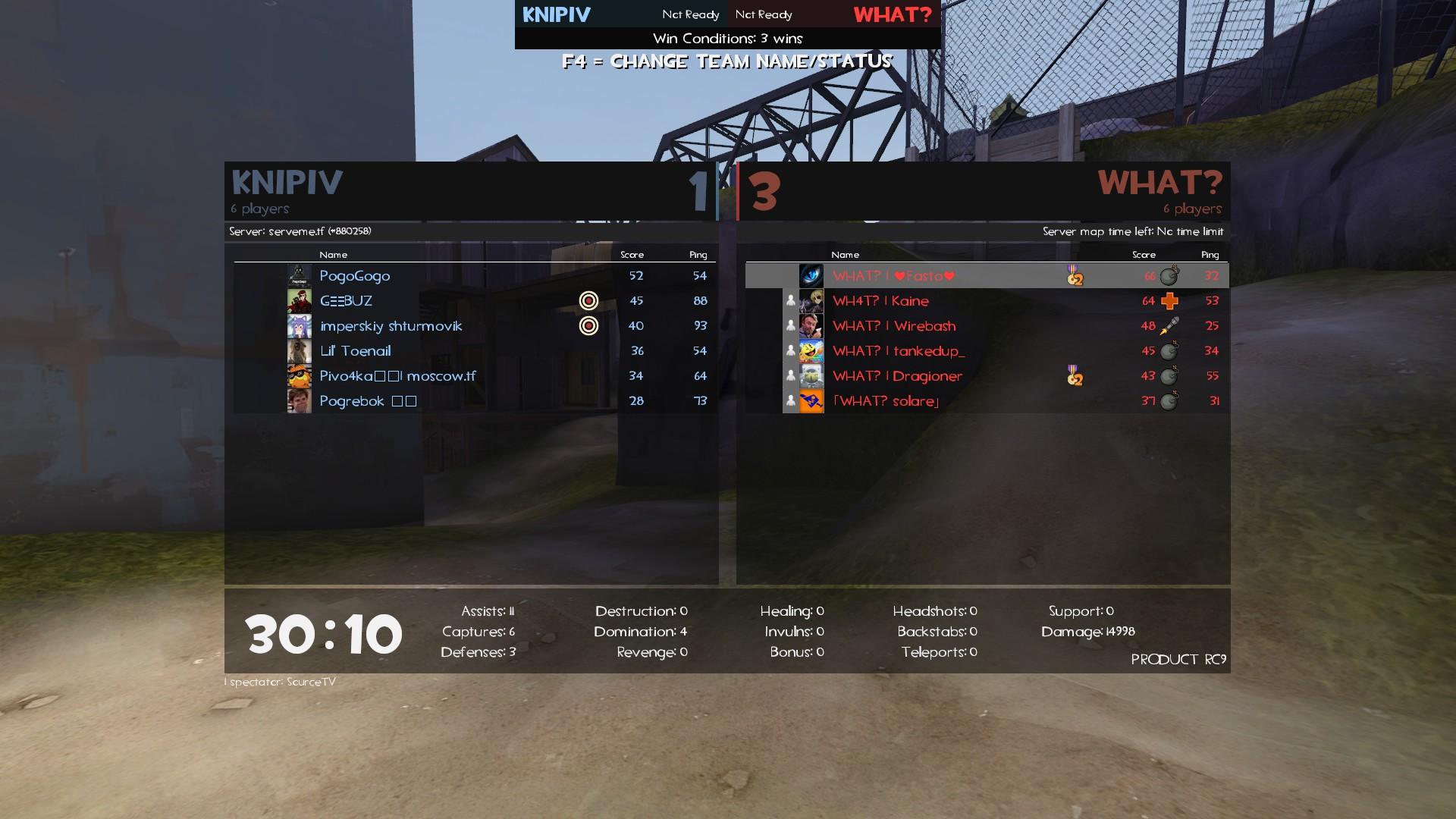 Match end screenshot