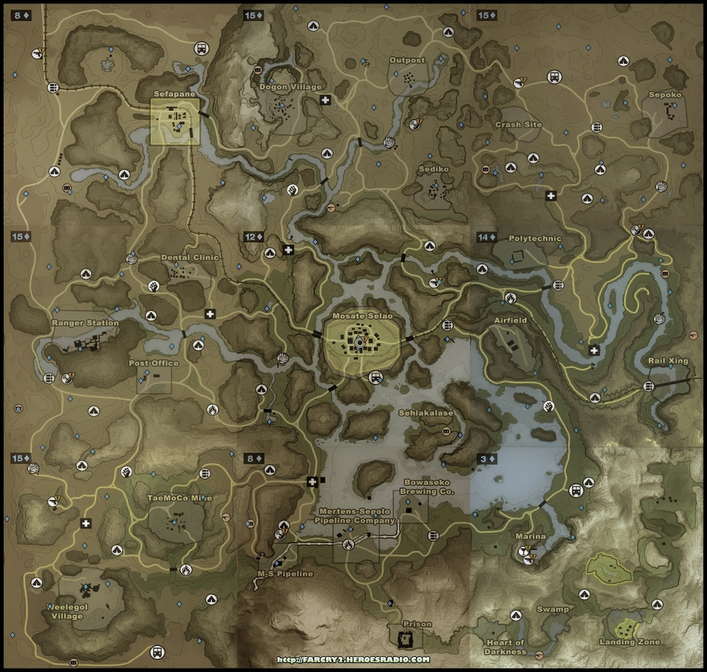 Steam Community Screenshot Far Cry 2 Southern Map