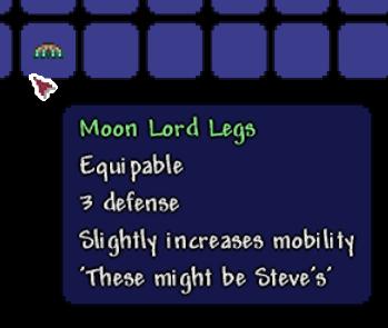 Пасхалка Ноги Лунного Лорда в terraria 1.4.0