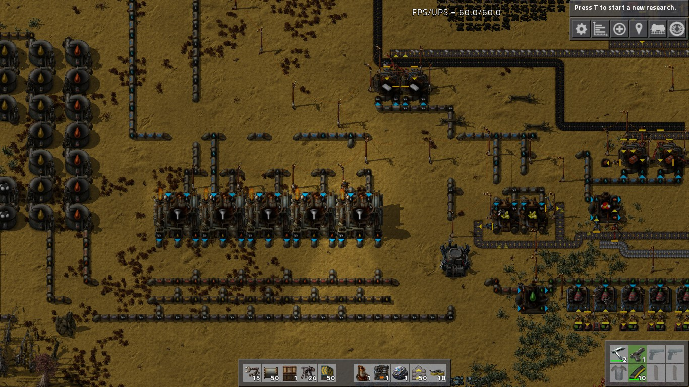 Steam Community Guide Speedrun Automated Circuit Screenshot Dont Skimp On Oil Pipes Are A Pain To Set Up So Just Do It All At Once Extra Tanks For Light Heavy Cheap Also Be Dork Like Me