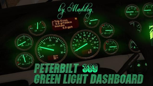 Steam Workshop :: Peterbilt 389 Green Light Dashboard