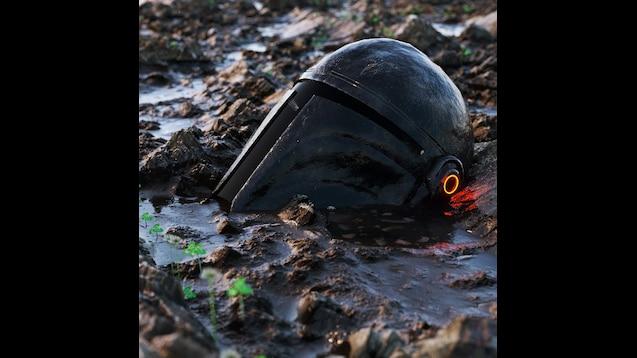 Steam Workshop Abandoned Mandalorian Helmet Star Wars The Mandalorian