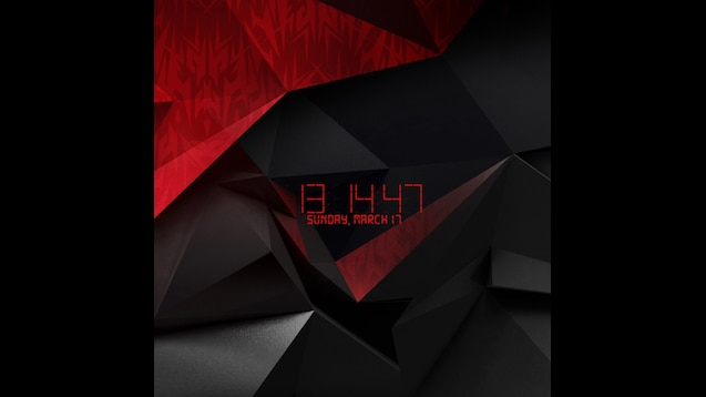 Steam Workshop Acer Predator Wallpaper With Clock And