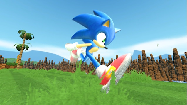 Steam Workshop Sonic 06 Sonic P 06 Sonic The Hedgehog Running Animation