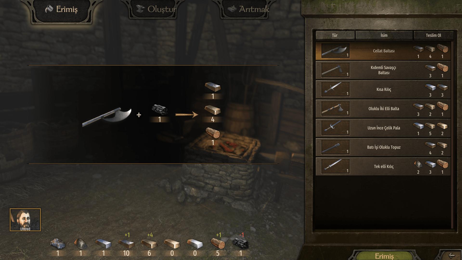 Mount & Blade II: Bannerlord silah yapma