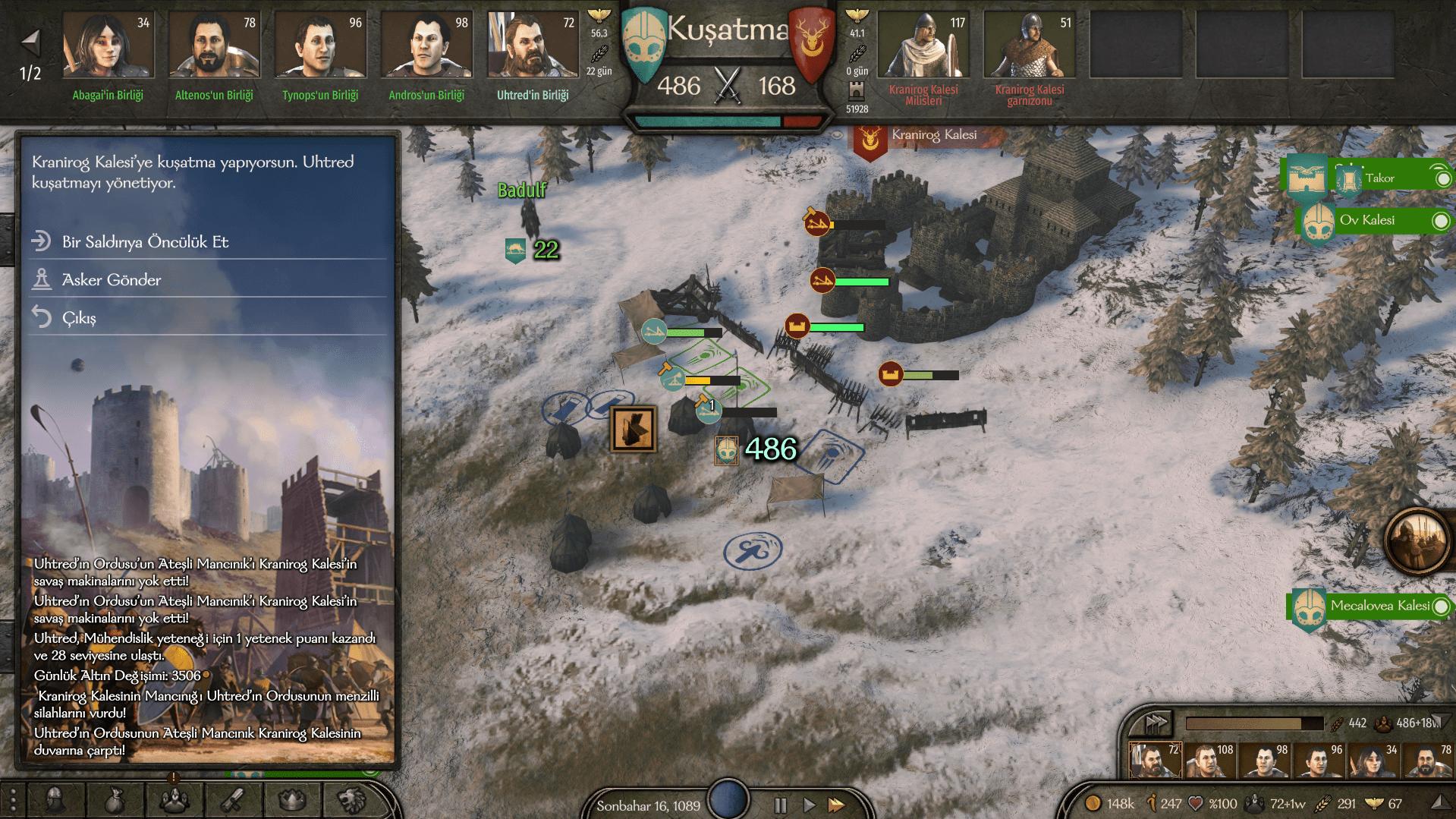 Bannerlord ordu kurmak