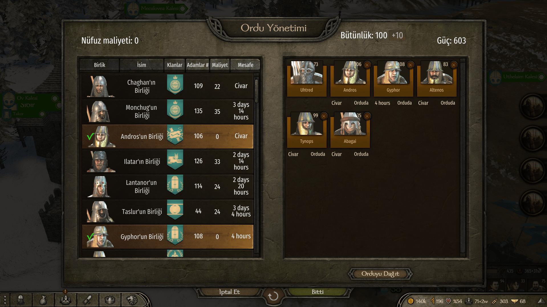 Bannerlord ordu kurmak, Bannerlord ordu nasıl kurulur?