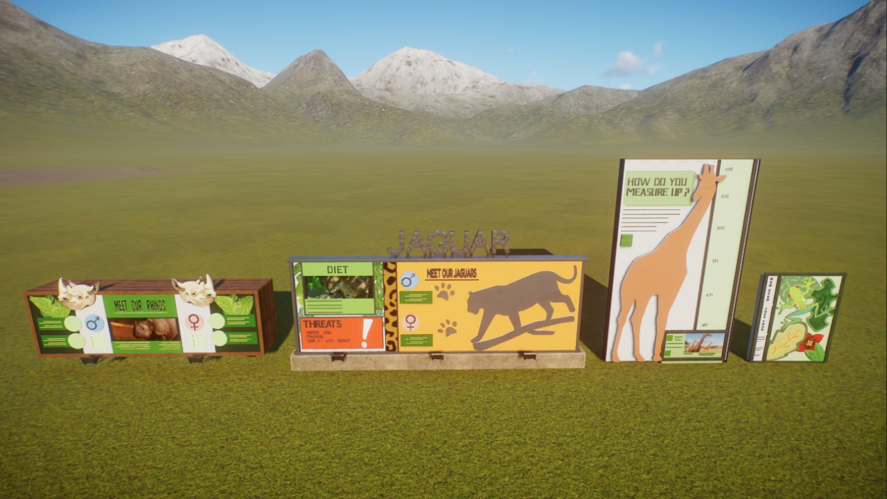 Custom Animal Info Signs