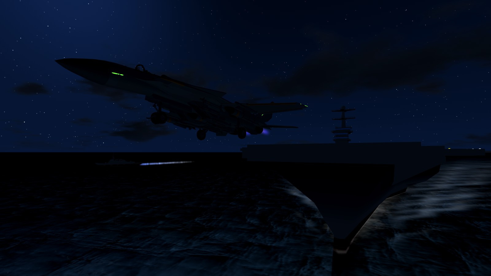 night take-off
