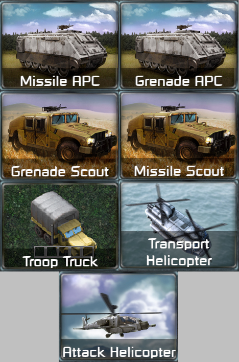 Vehicle, Units, Building Pack + Tweaks