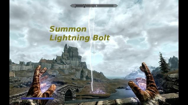 Steam Work Summon Lightning Bolt