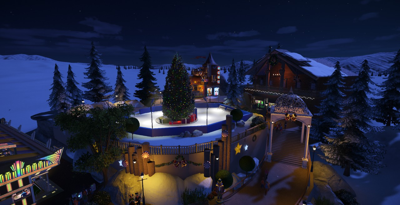 Ice Skating Rink & Christmas Village