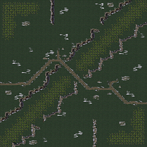 Tiberian Gorge - 1v1 Playermap