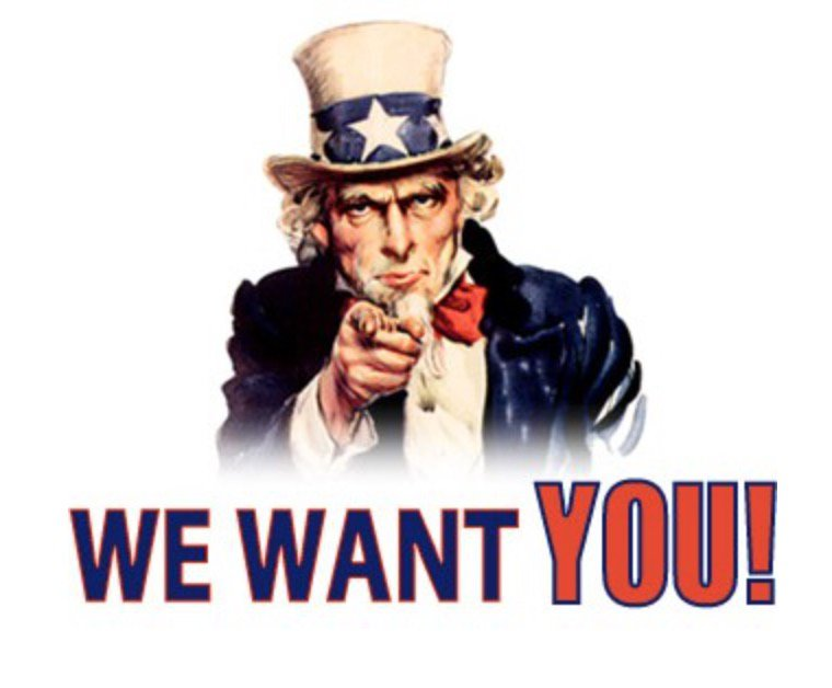 Bildresultat för we want you!