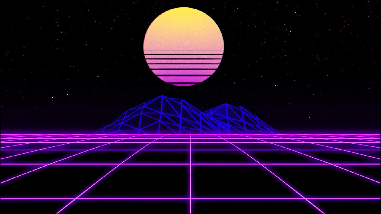 Steam Workshop Aesthetic 80s Neon Grid