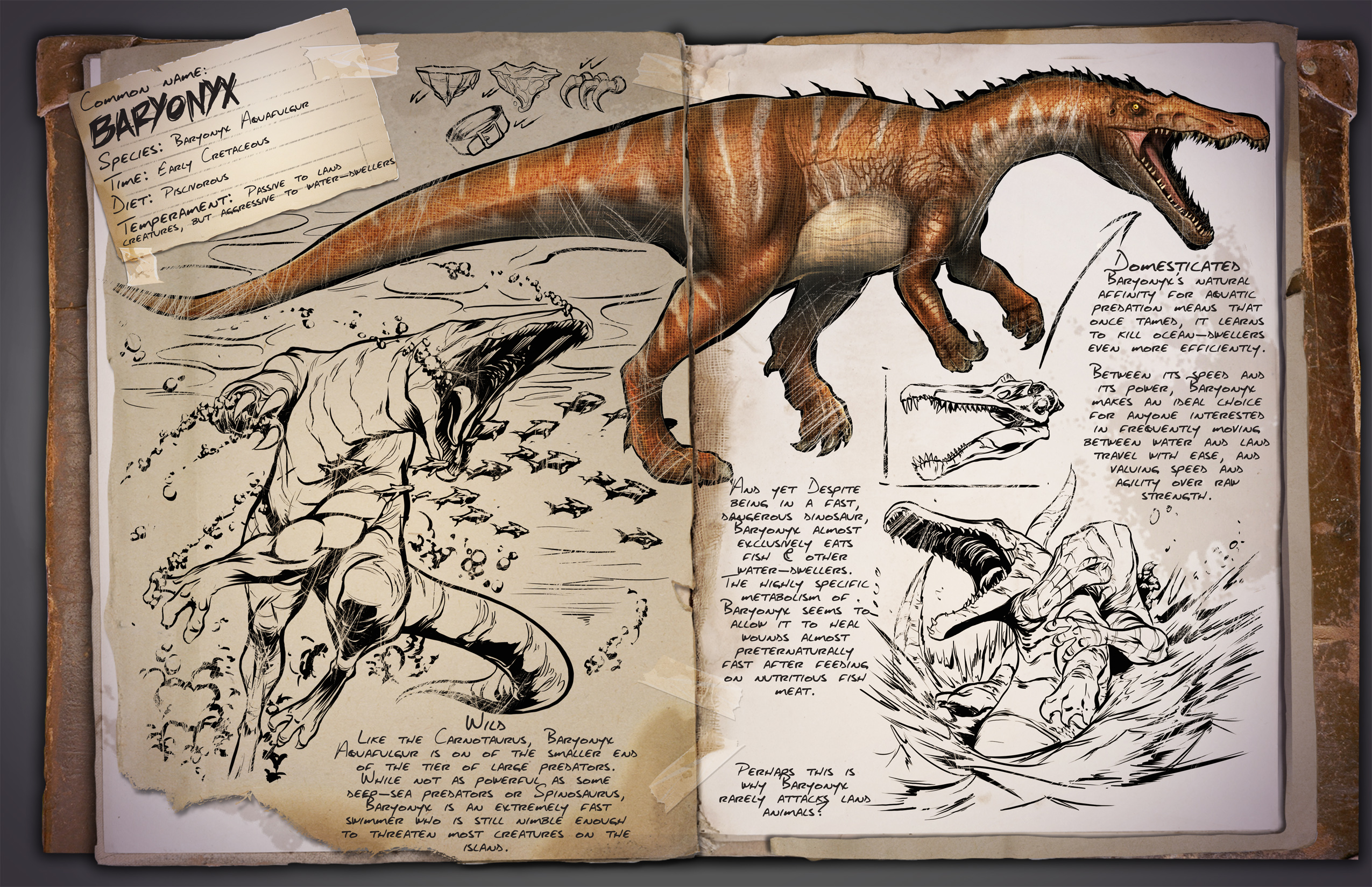 Aug 14, 2015 [08/15/15] Introducing the Baryonyx! ARK: Survival