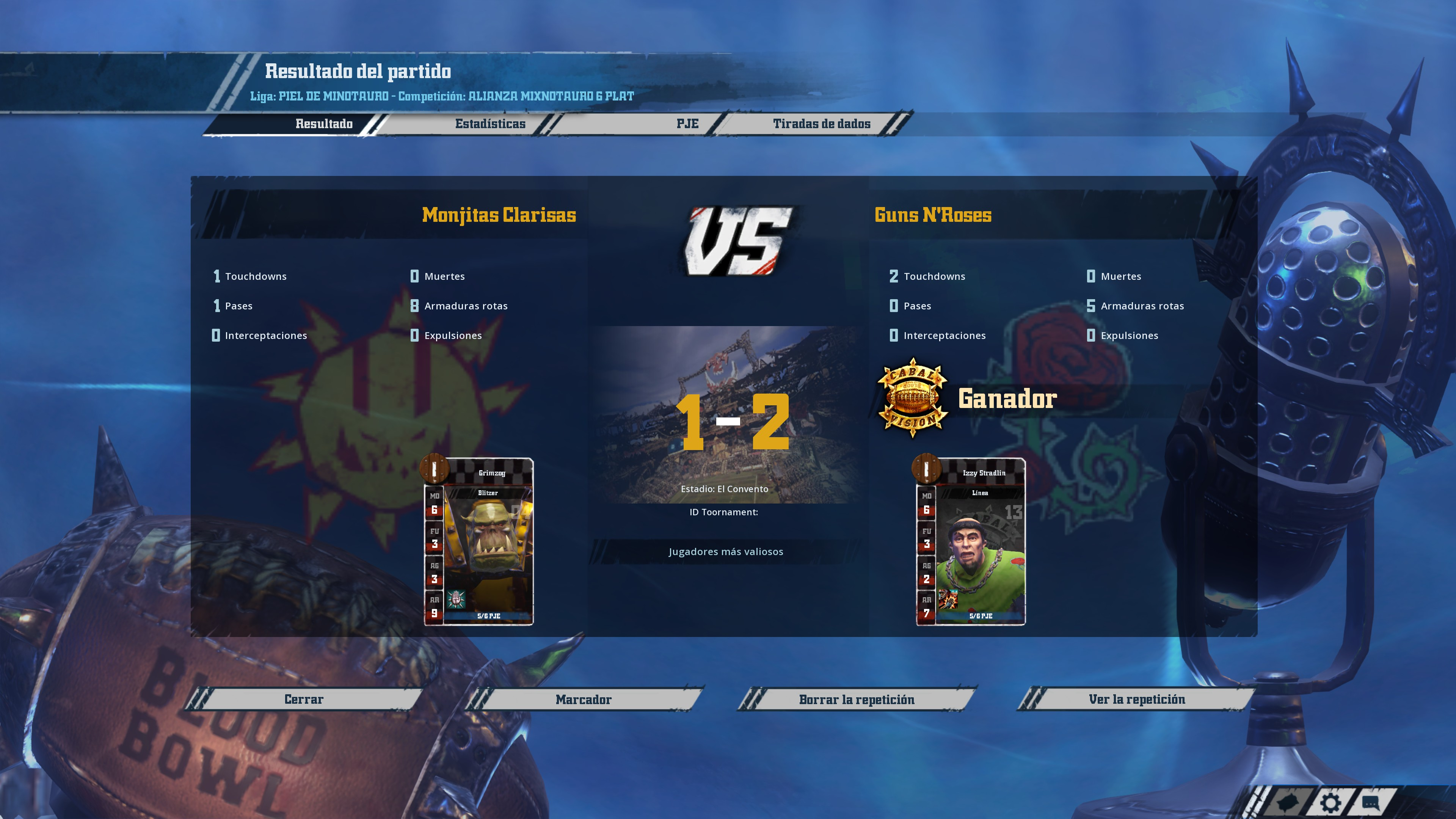 Liga Alianza Mixnotauro 6 - División Cuerno de Plata / Jornada 4 - hasta el domingo 27 de septiembre F5A4F5FD9F188873141D0B3702048C5478A4507E