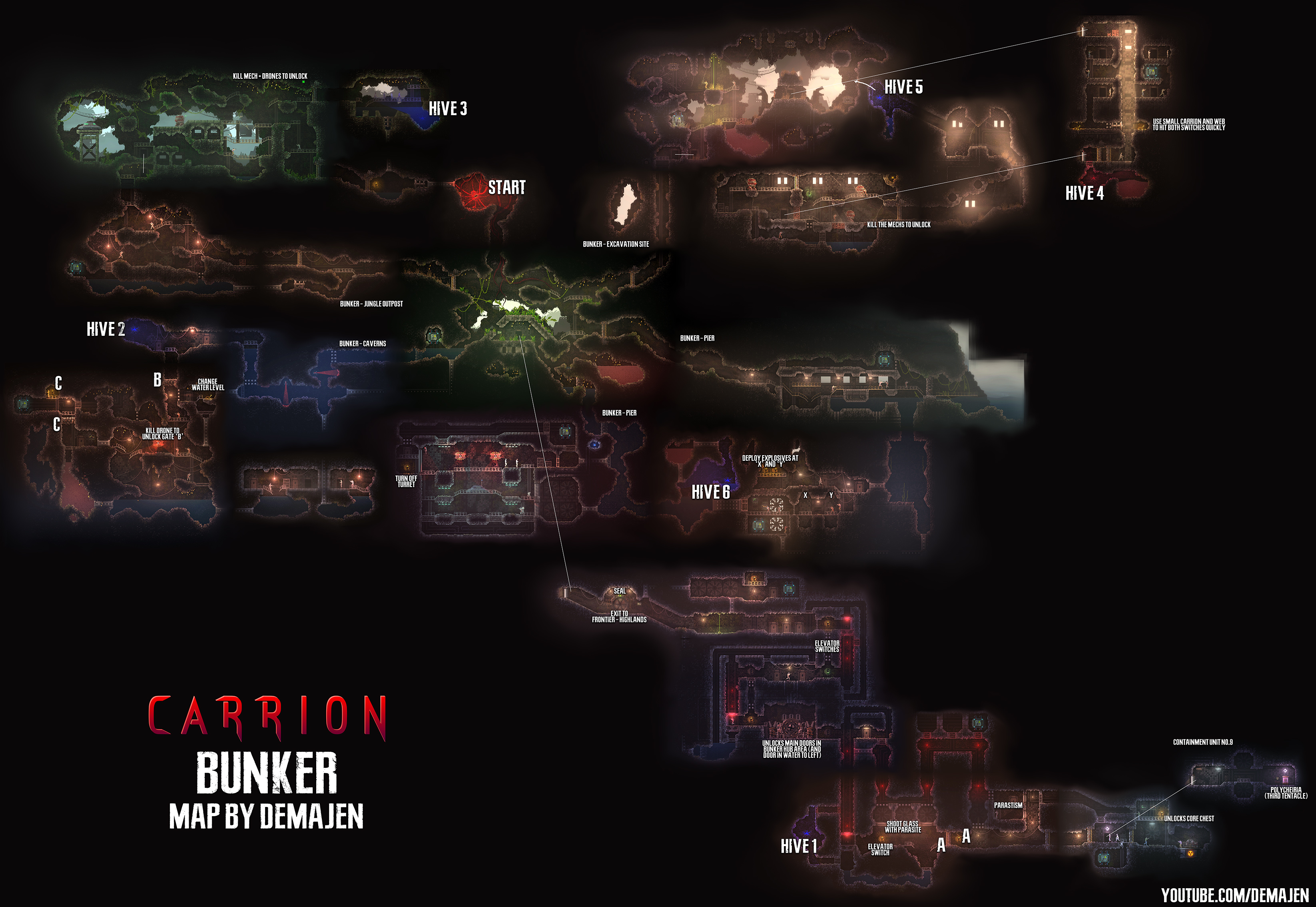 Map Of All The Areas By Jam3sjam3s Guides Carrion Speedrun Com