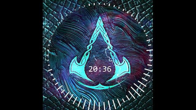 assassins creed valhalla logo 4k