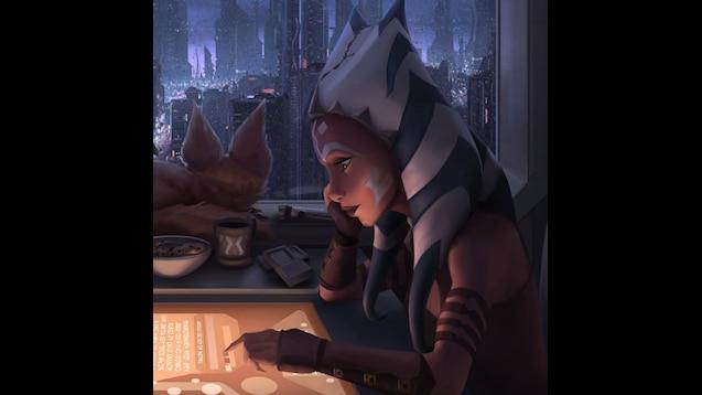 Steam Workshop Lofi Ahsoka Animated Wallpaper Star Wars