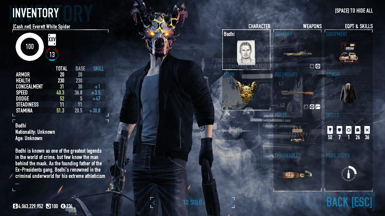 loud build payday 2