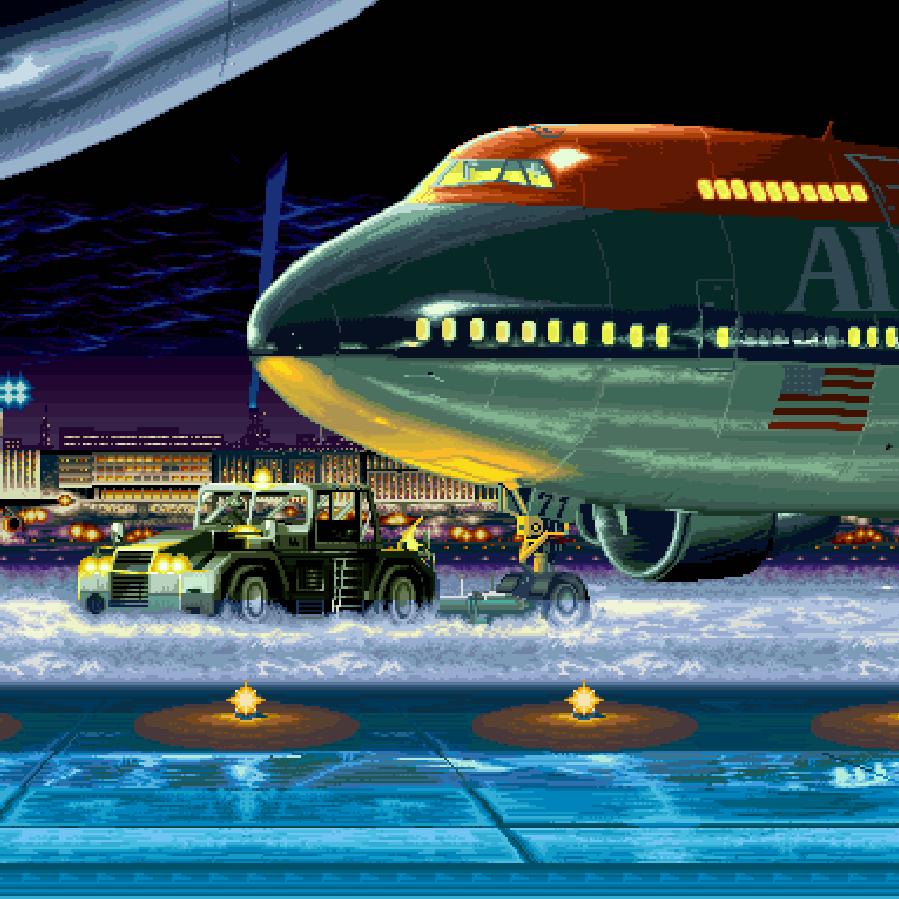 Night Time Runway Wallpaper Engine