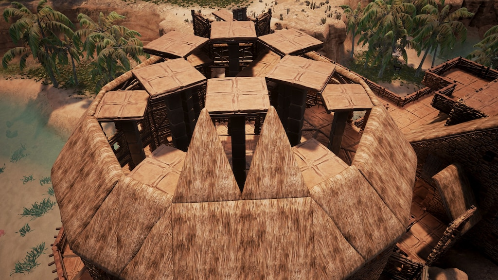 Steam Community Screenshot Conical Roof Building Inverted Wedge Placement