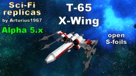 Steam workshop star wars t 65 x wing open s foils version blueprint small vessel malvernweather Images