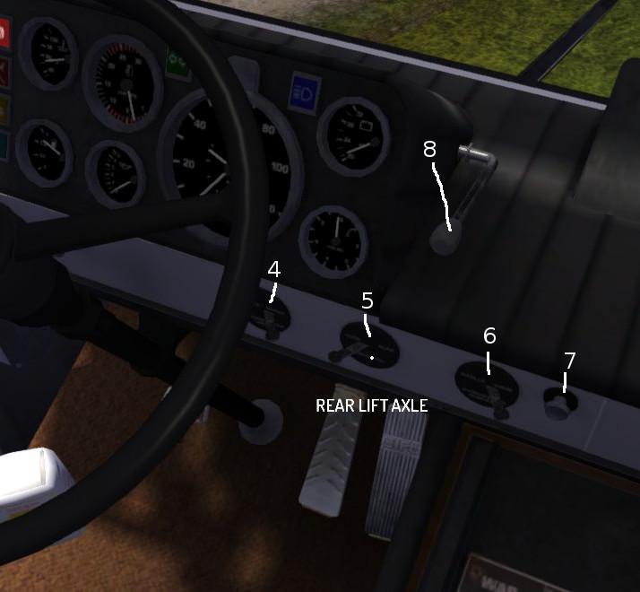 Steam Community Guide Truck Gifu Dash Controls Layout