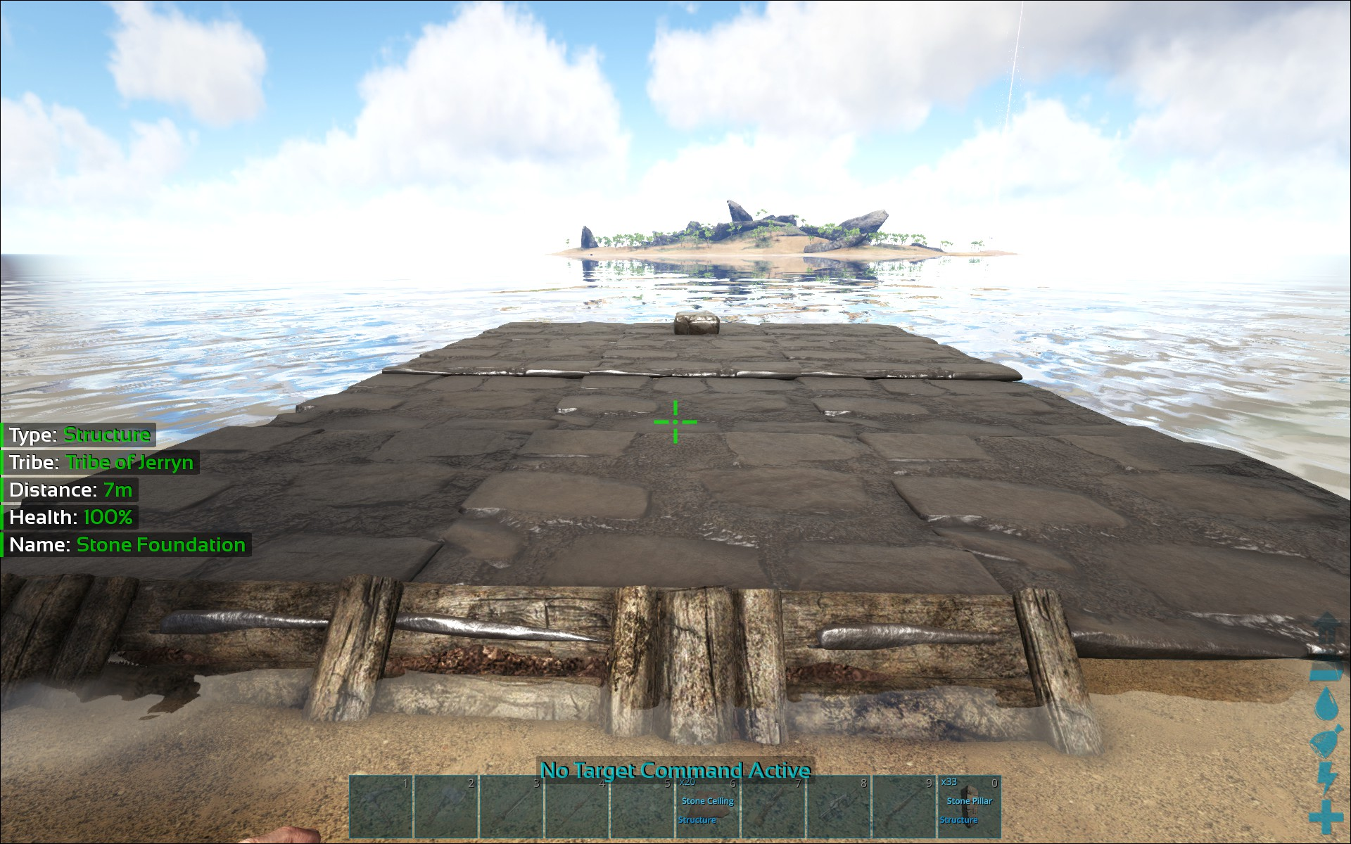 how to get someone out of a base pve ark