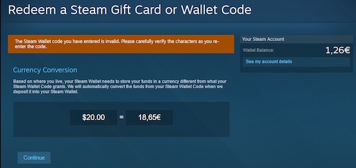 Steam Invalid Product Code