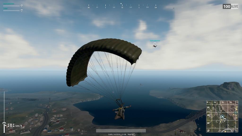 Resultado de imagem para playerunknown's battlegrounds parachute