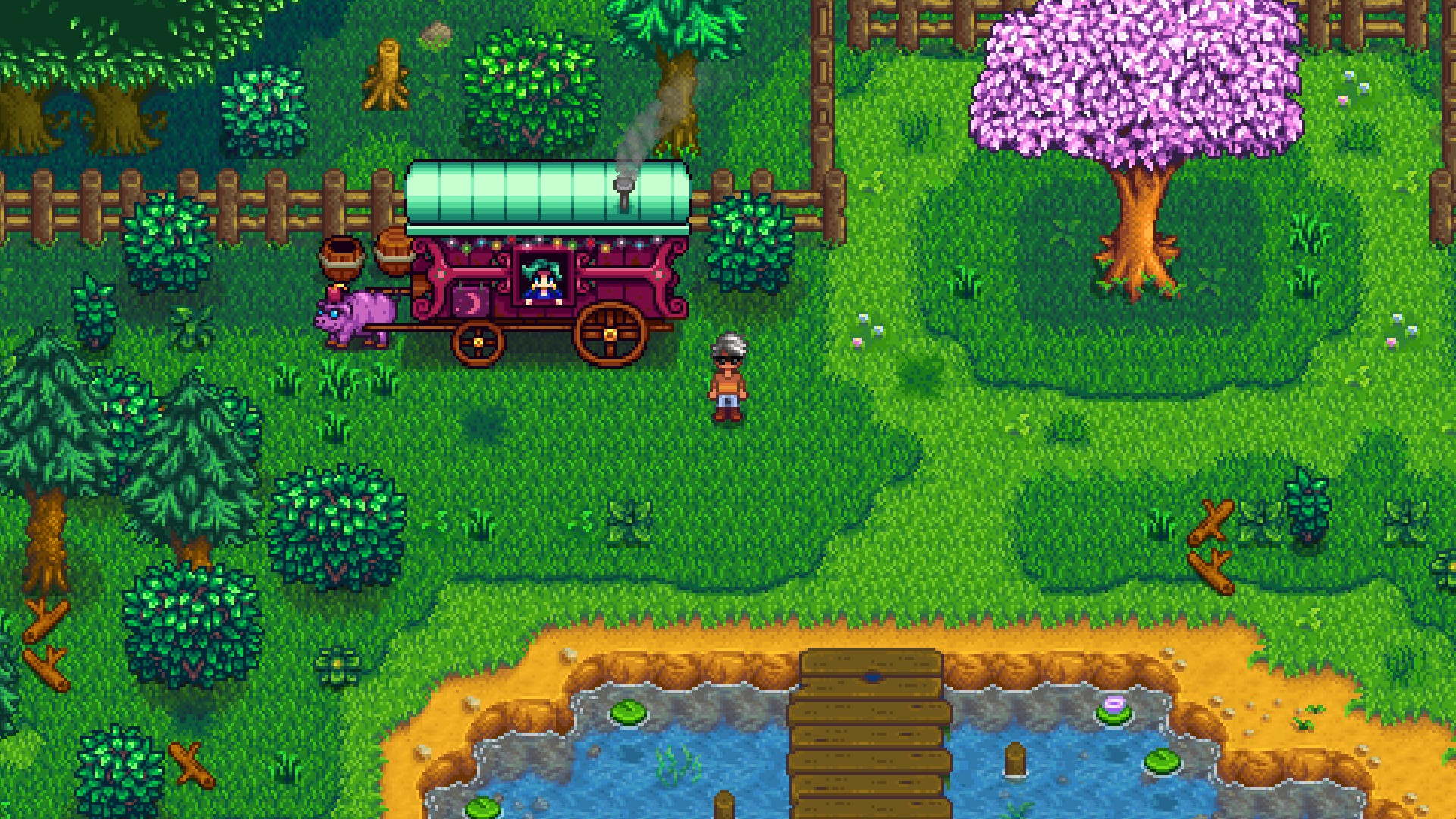 stardew valley how to get the cart running
