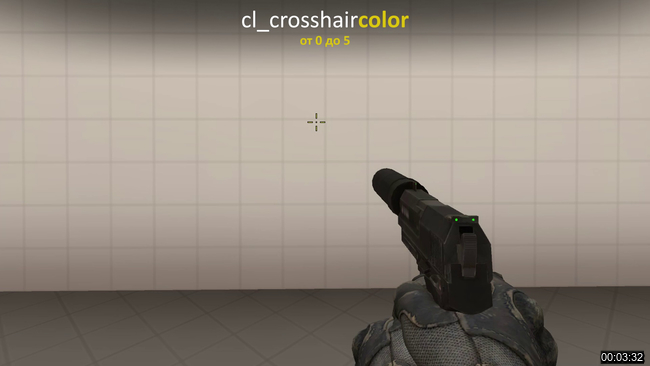 cl_crosshaircolor  cs go