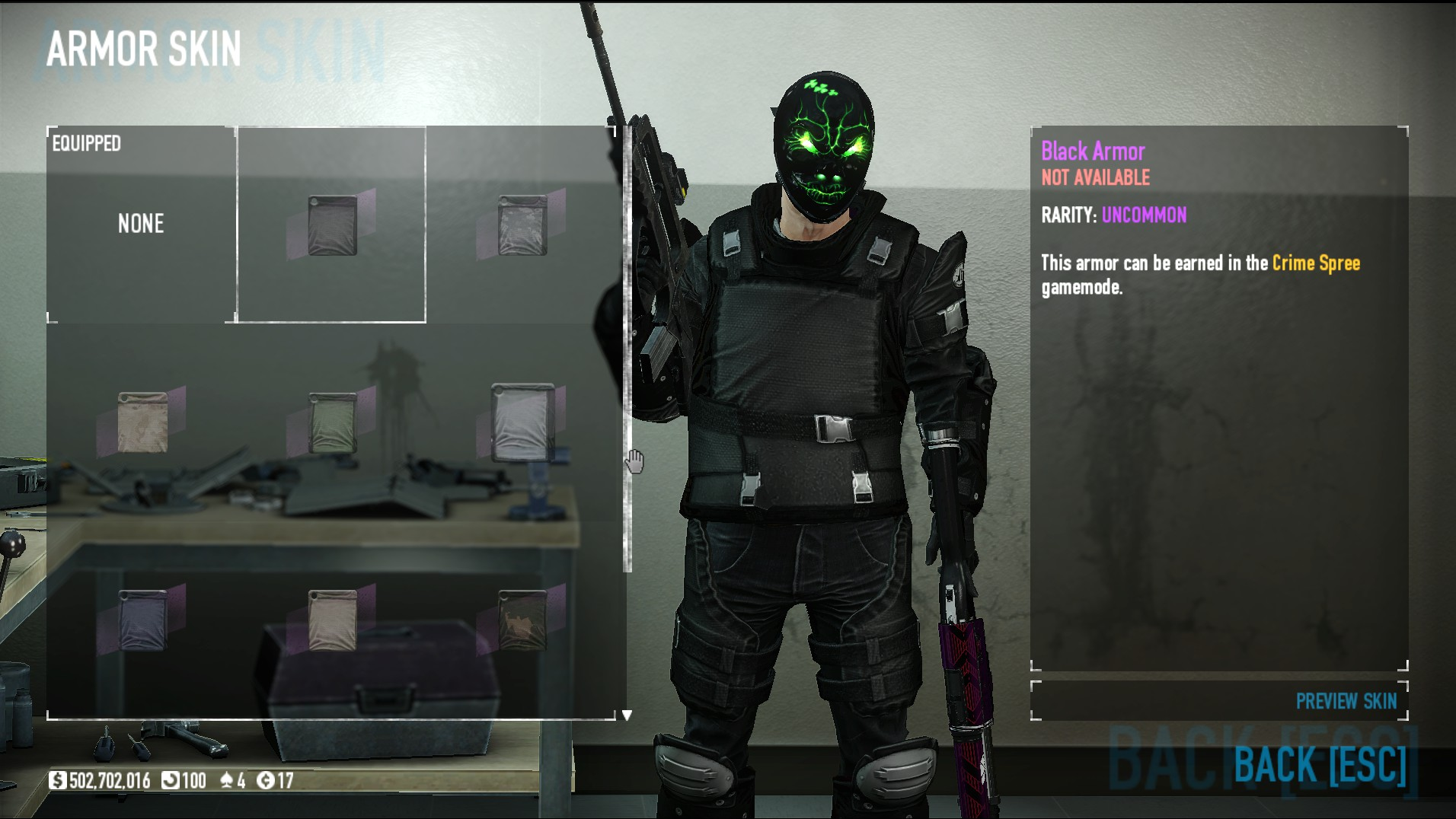 When do the Crime Spree armour skins drop or it it RNG? (NOT