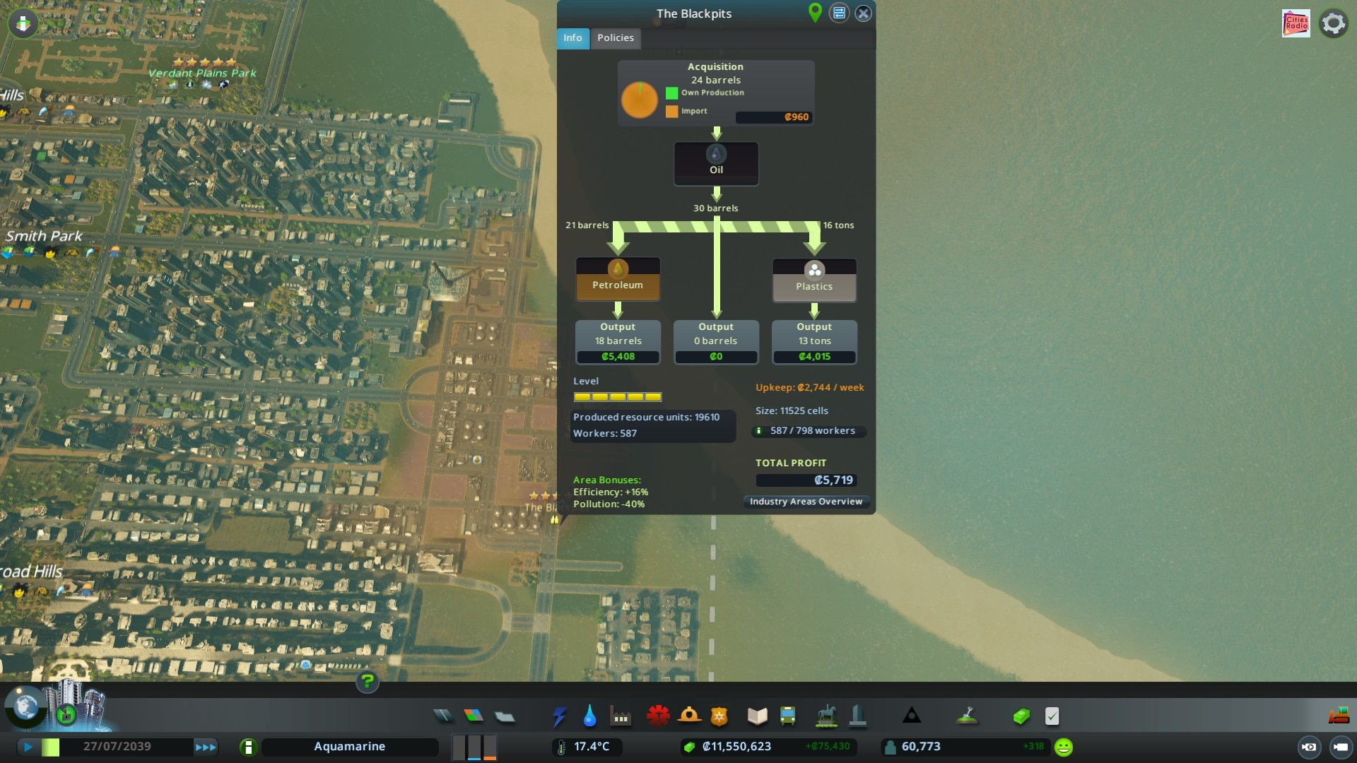 Cities: Skylines — Industries screenshot shared by Steam user dracosummoner