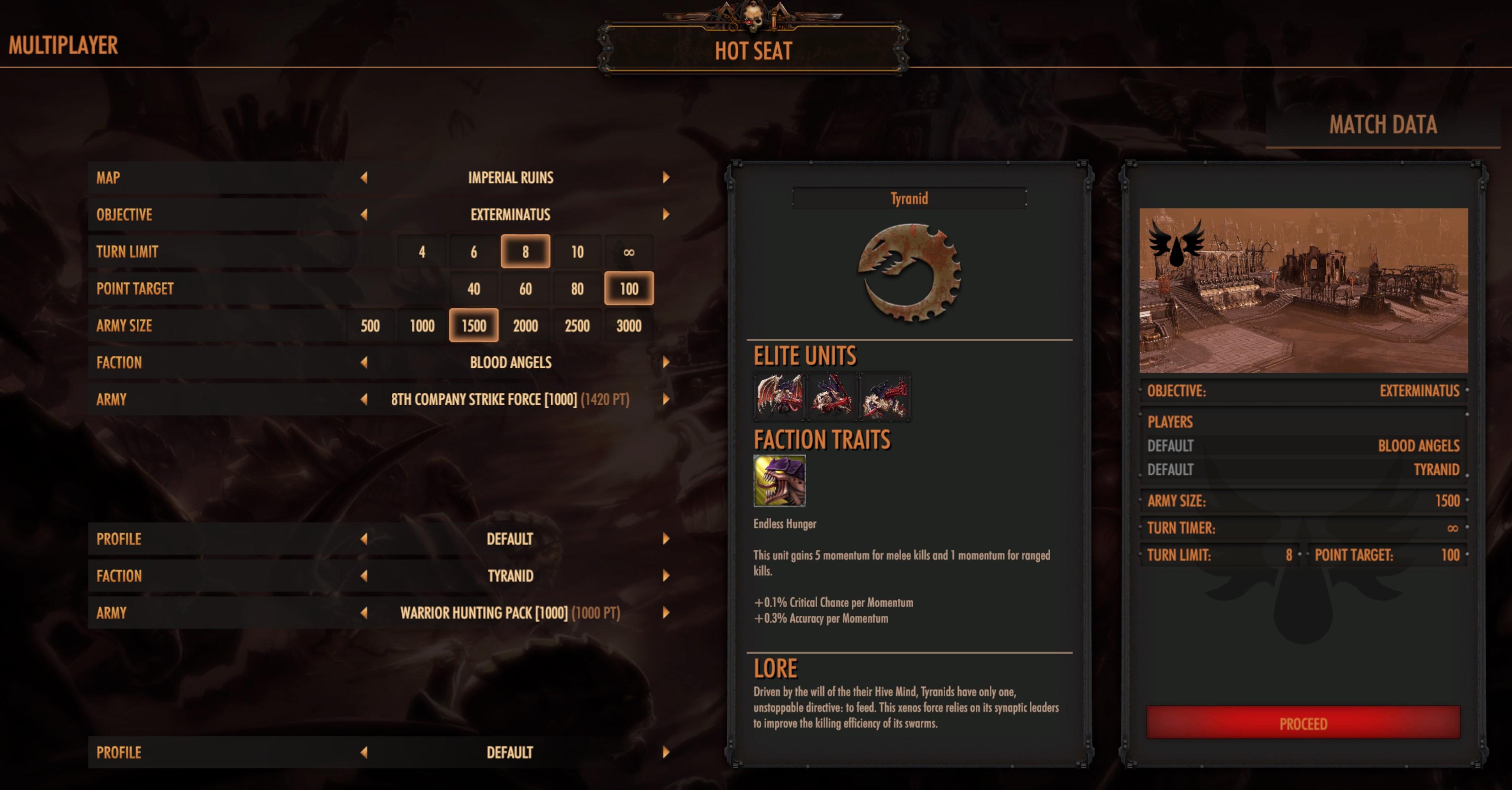 Warhammer 40000: BattleSector Multiplayer Modes