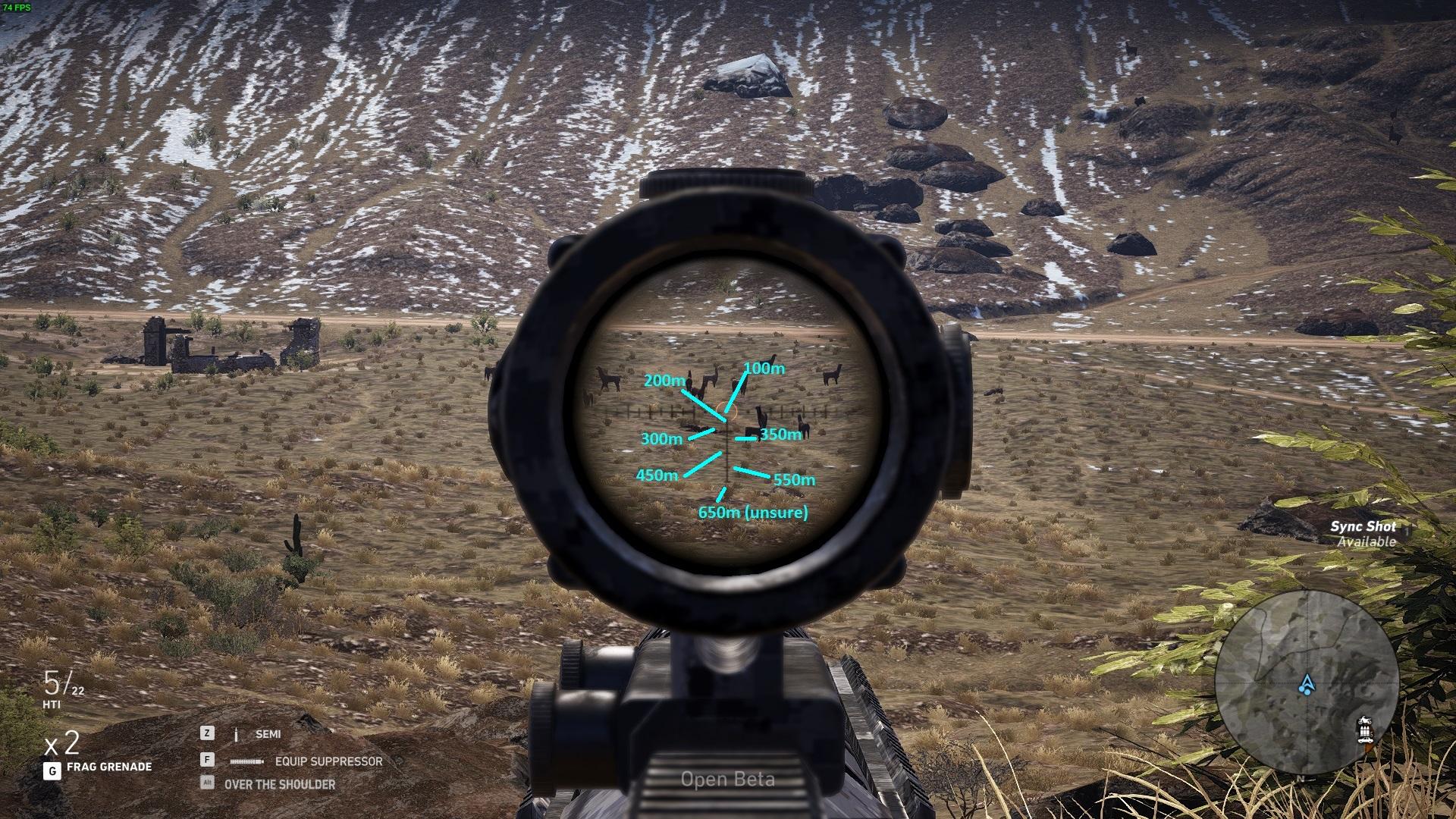 ghost recon wildlands scope locations