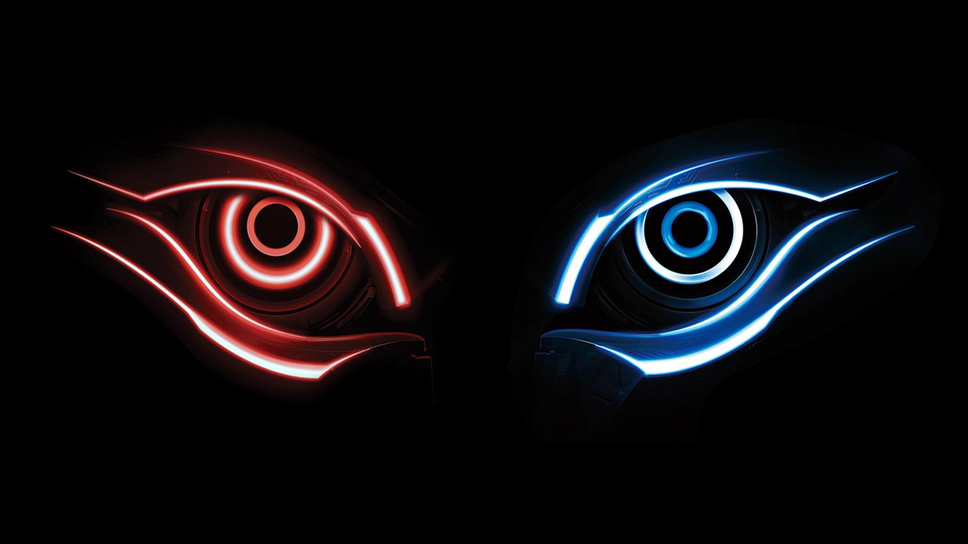 steam ワークショップ gigabyte logo 1920 x 1080 blue eye red eye