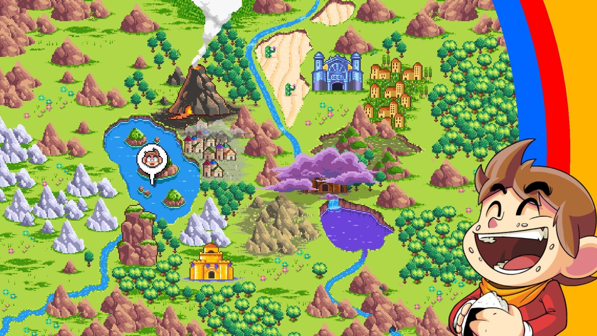 Mapeado del mundo de Radaxian