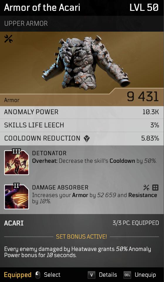 Acari Champion | Endgame Anomaly Pyromancer build image 8
