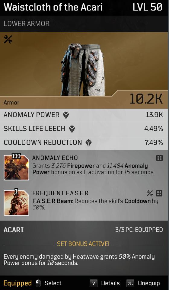 Acari Champion | Endgame Anomaly Pyromancer build image 15