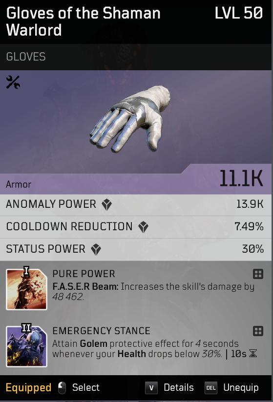 Acari Champion | Endgame Anomaly Pyromancer build image 22