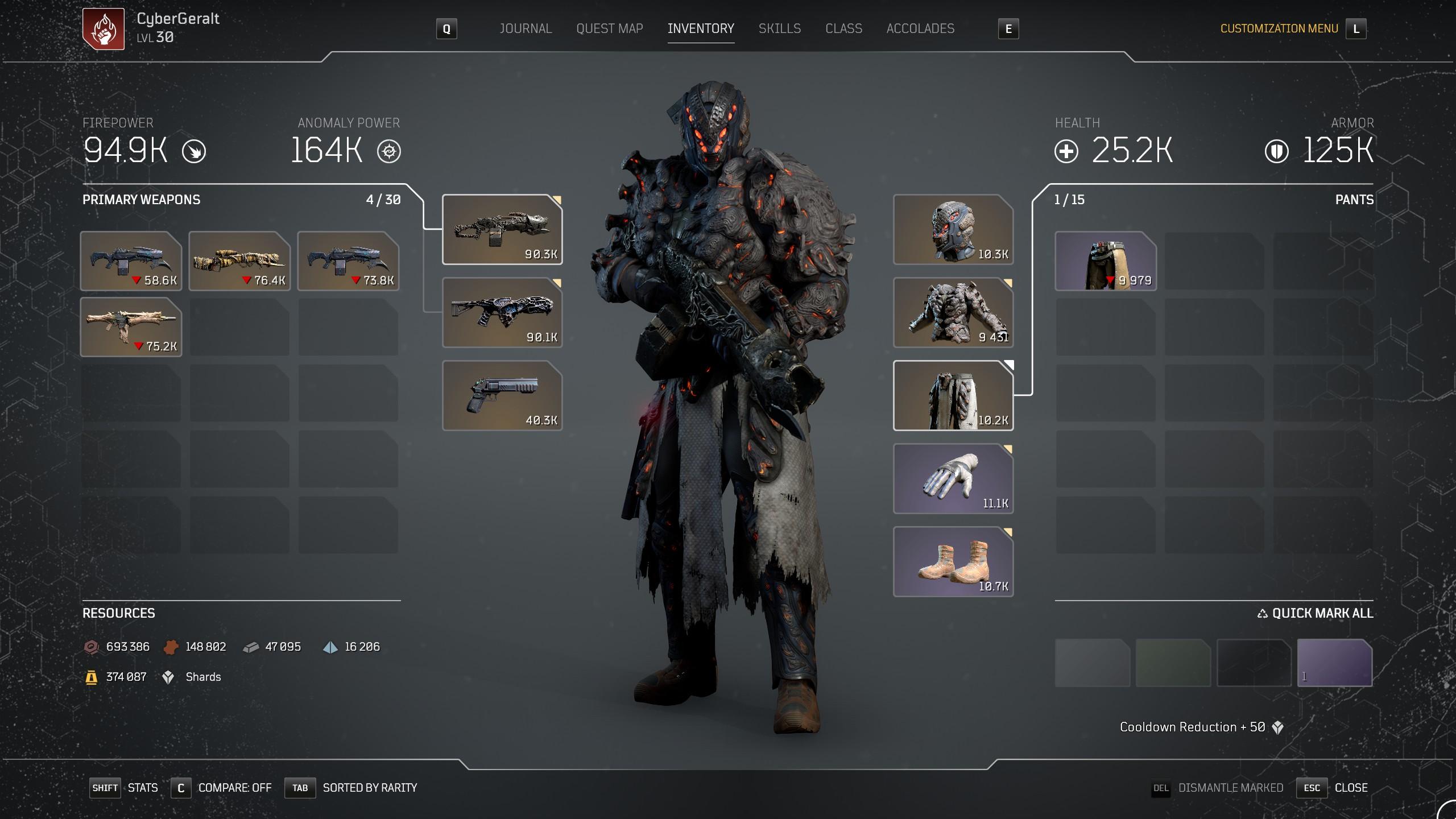 Acari Champion | Endgame Anomaly Pyromancer build image 63