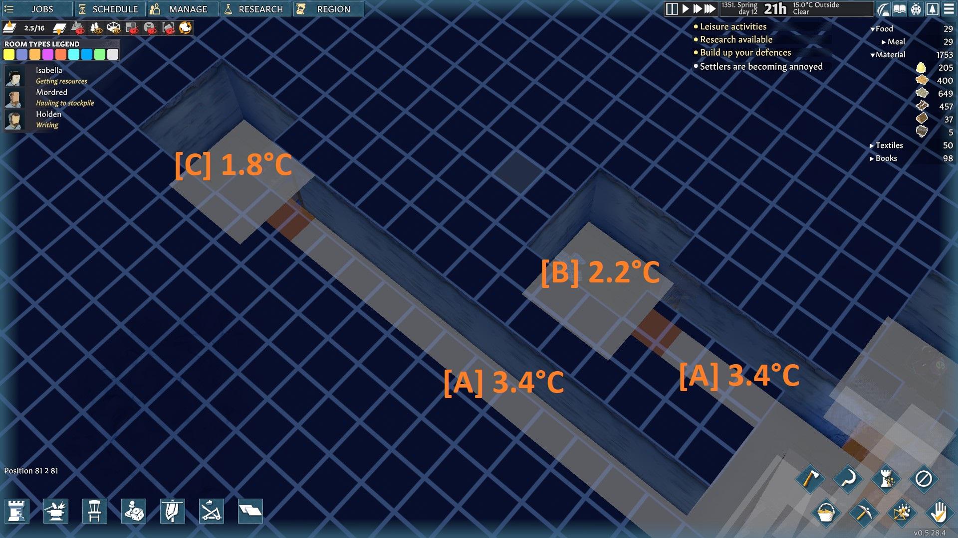 Основы холодной комнатной температуры в Going Medieval