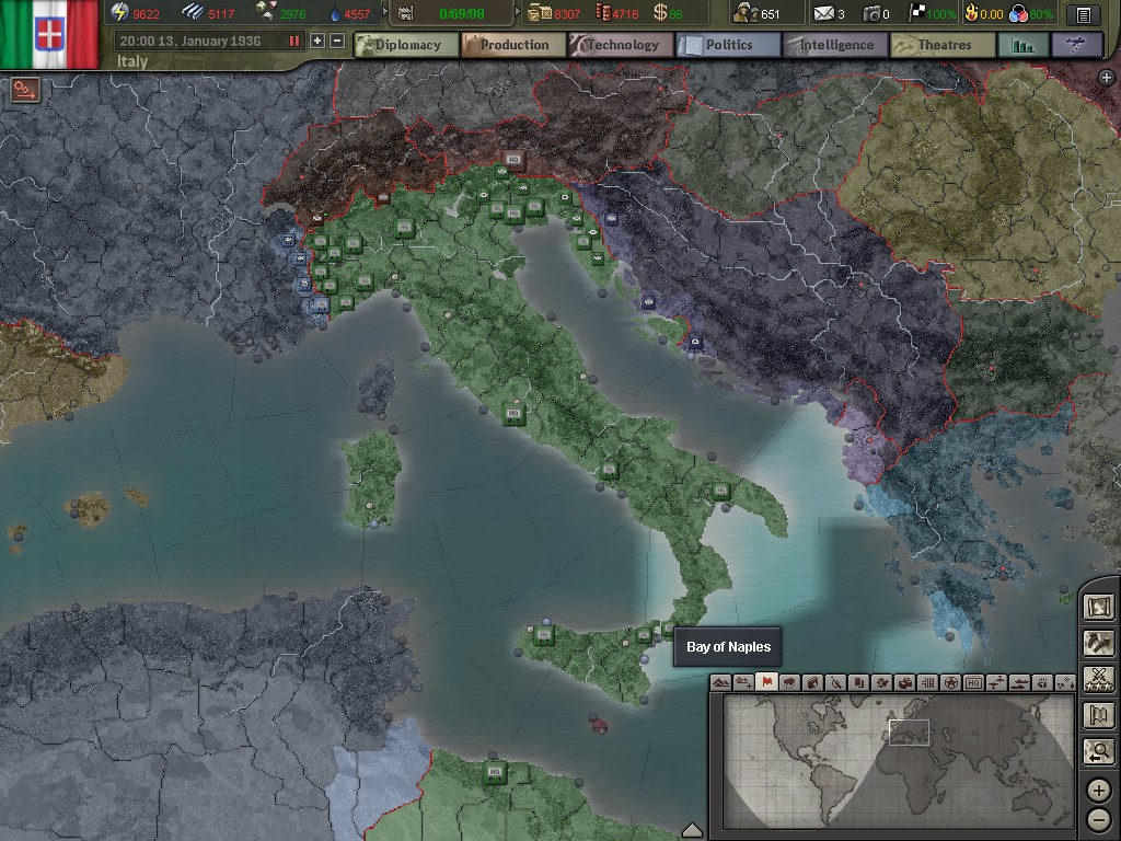 Hoi3 italy guide